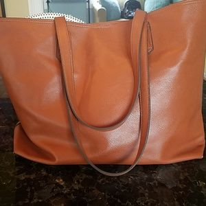 Faux leather tote camel/tan  old navy